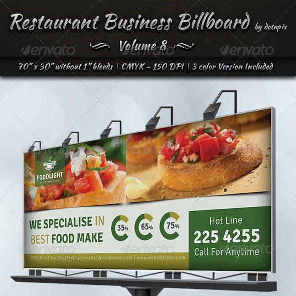 Restaurant Business Billboard | Volume 8