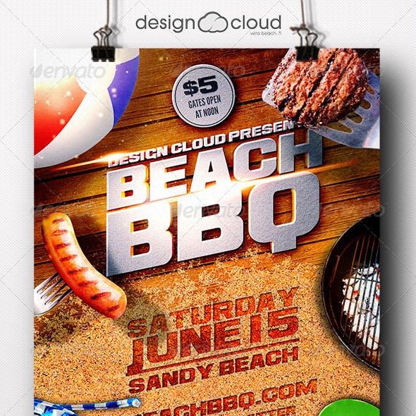 Beach BBQ Flyer Template