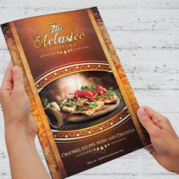 The Elclasico Cuisine Menu Templates