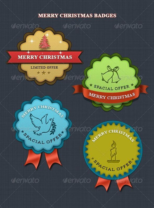 Christmas Badges Badge - Badges & Stickers Web Elements