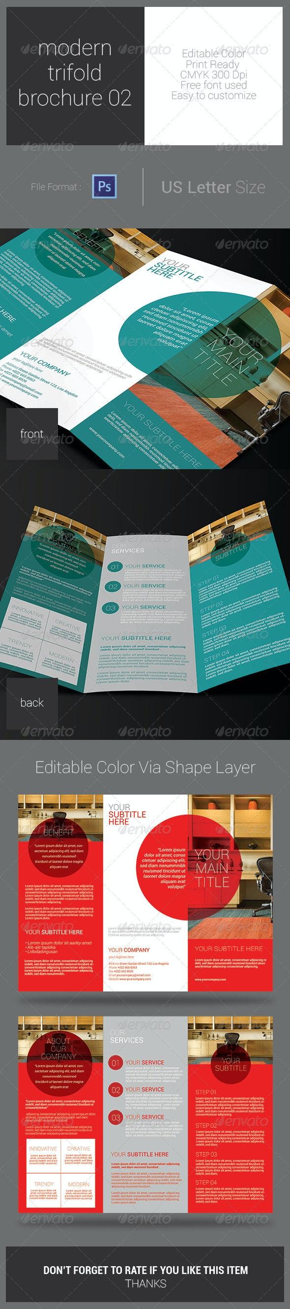 Modern Trifold Brochure 02 - Corporate Brochures