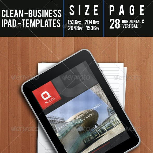 Clean - Business Ipad Templates