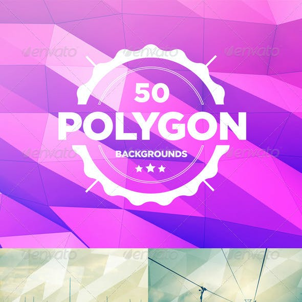 50 Polygon Backgrounds Bundle