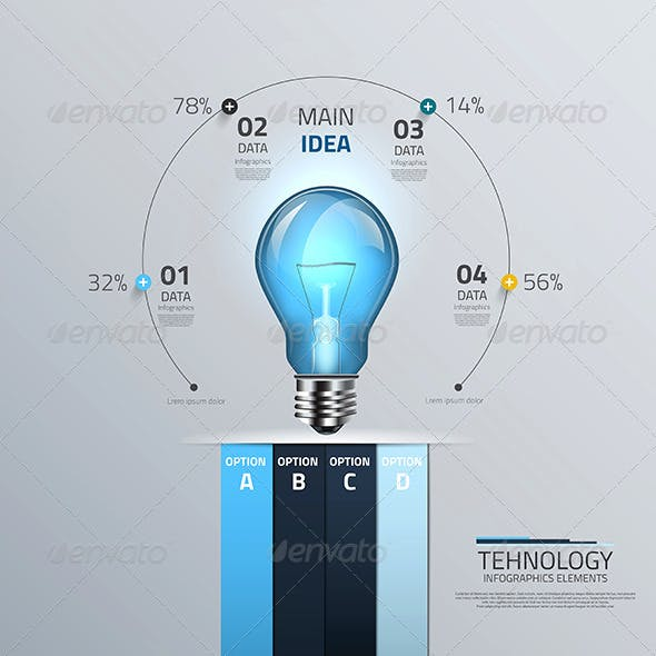 This is the Light Bulb Concept Infographic