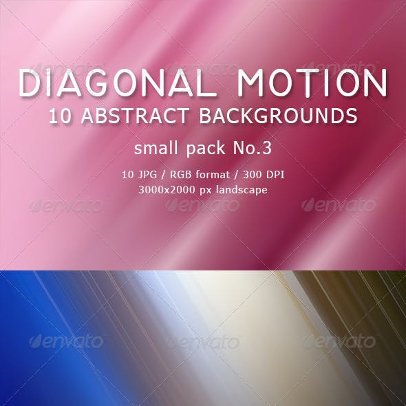 Diagonal Motion - 10 Abstract Backgrounds Pack 3