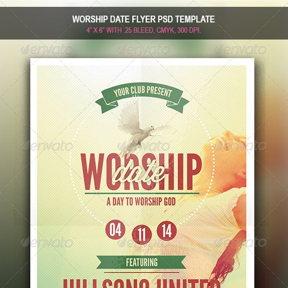 Worship Date | Flyer Template