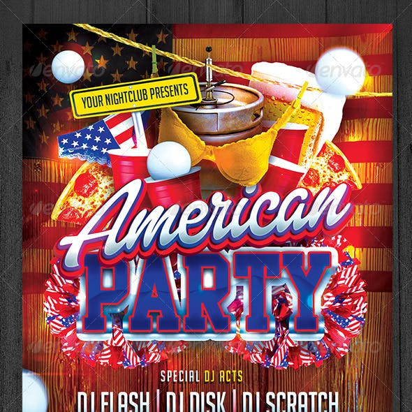 American Party Flyer