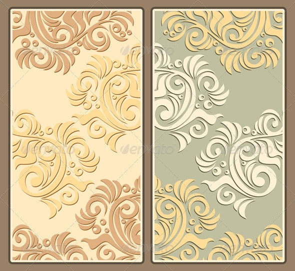Two Decorative Pastel Backgrounds - Backgrounds Decorative