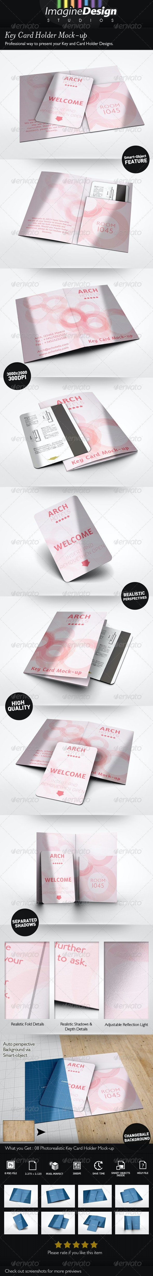 Key Card Holder Mock-up - Miscellaneous Print