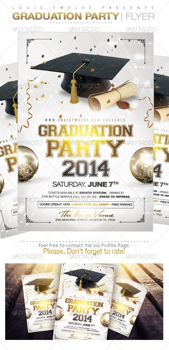 Graduation Party | Flyer Template - Clubs & Parties Events