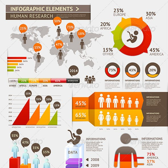 Modern Infographic Element Template.