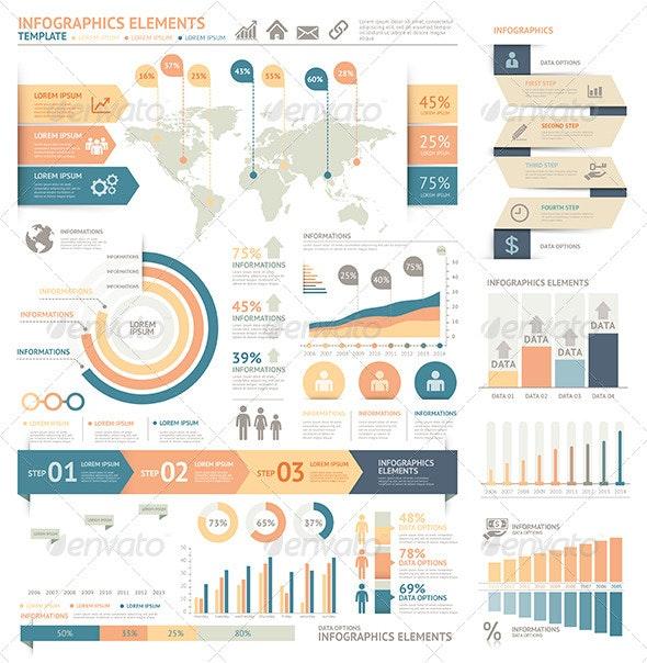 Modern Infographic Element Template - Infographics