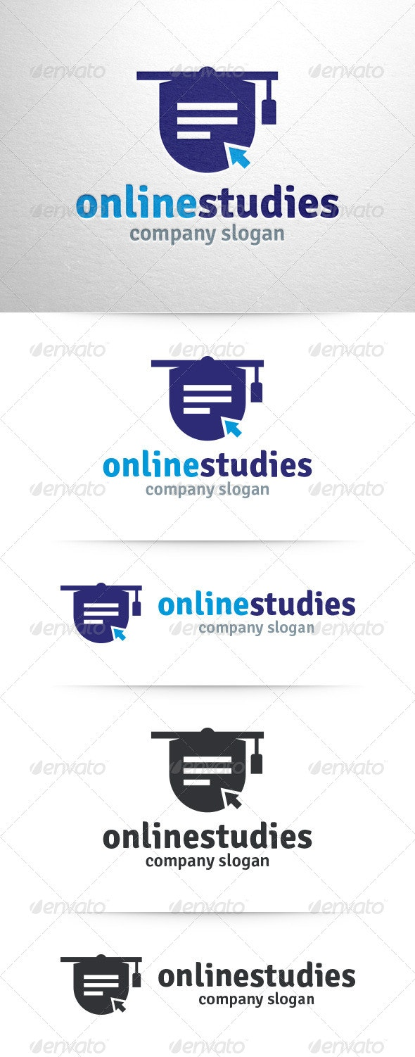 Online Studies Logo Template - Abstract Logo Templates