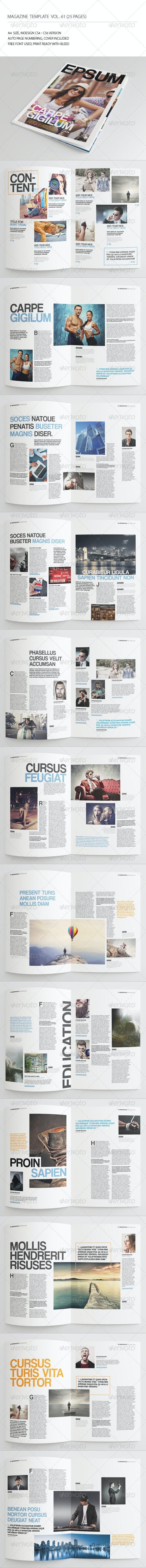 25 Pages Simple Magazine Vol61 - Magazines Print Templates