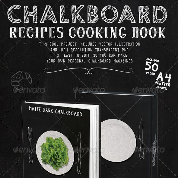 Chalkboard Recipes Cooking Book