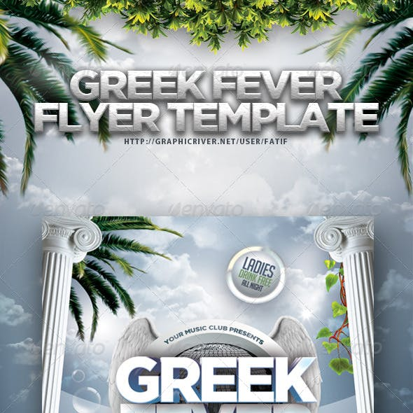 Greek Fever Flyer Template