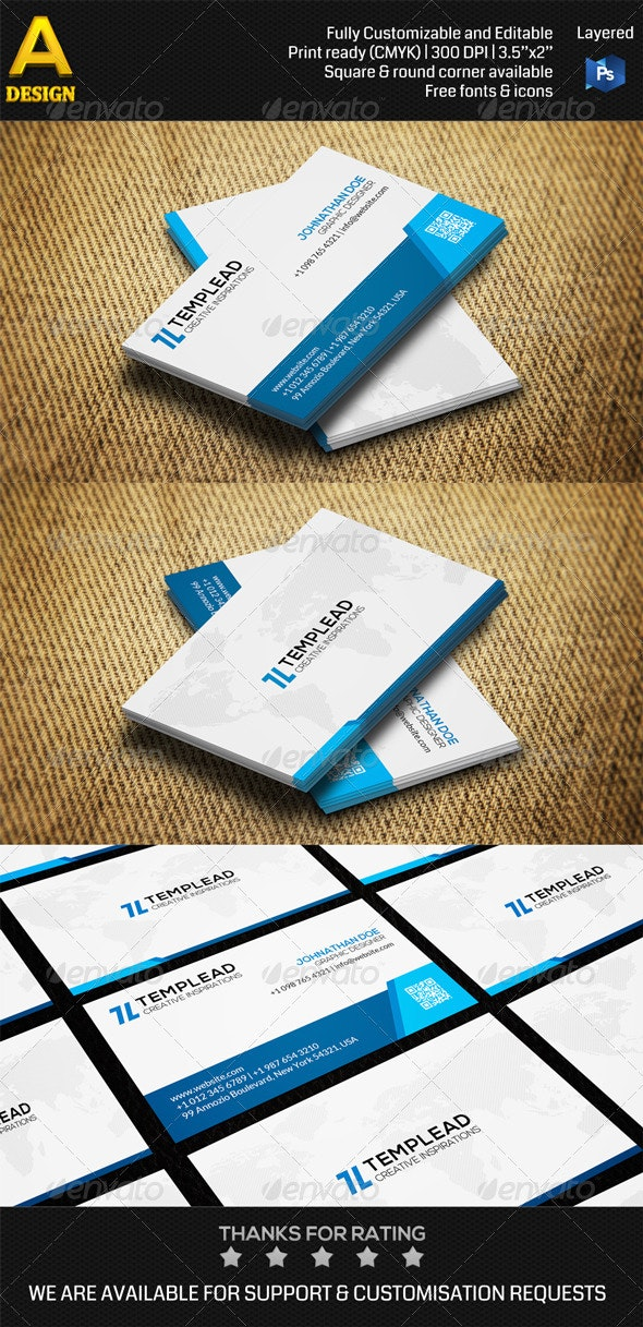 Corporate Business Card AN0387 - Corporate Business Cards