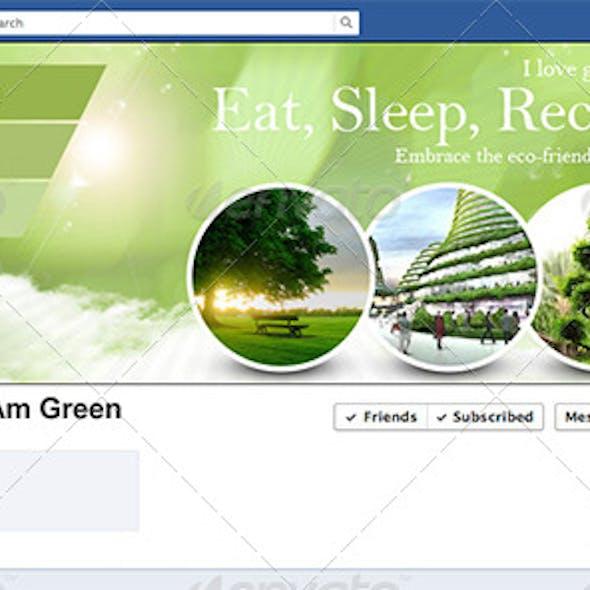 I Love Green Facebook Timeline