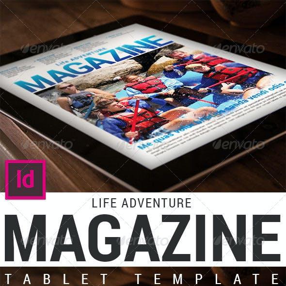 Tablet Adventure Magazine Template