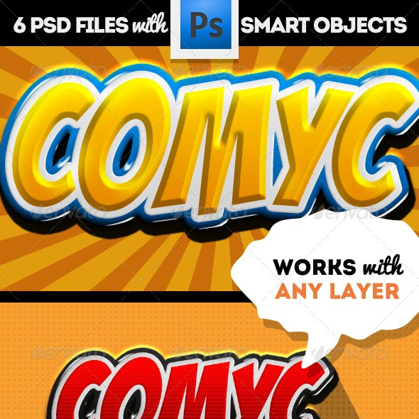 Cartoon and Comic Book Photoshop Styles