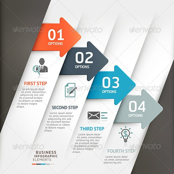 Modern Business Arrow Infographic Template