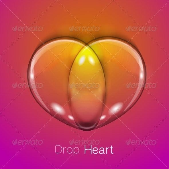 Liquid Transparent Heart - Miscellaneous Vectors