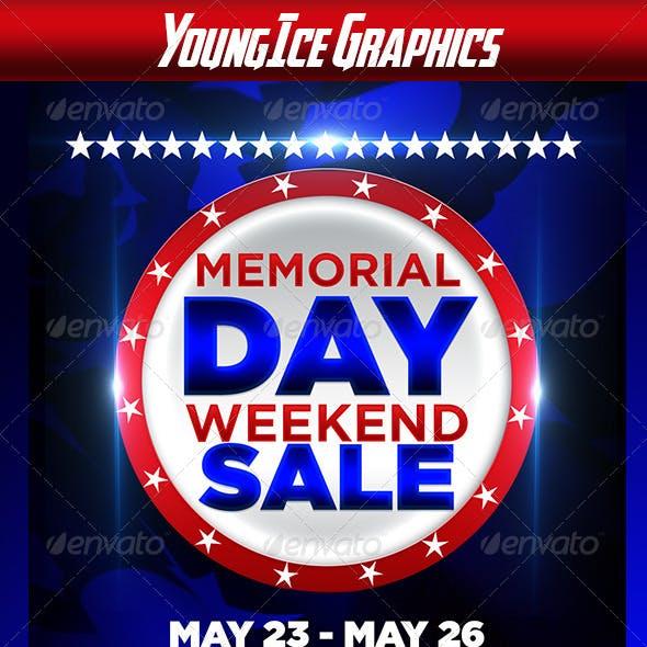 Memorial Day Weekend Sale Flyer