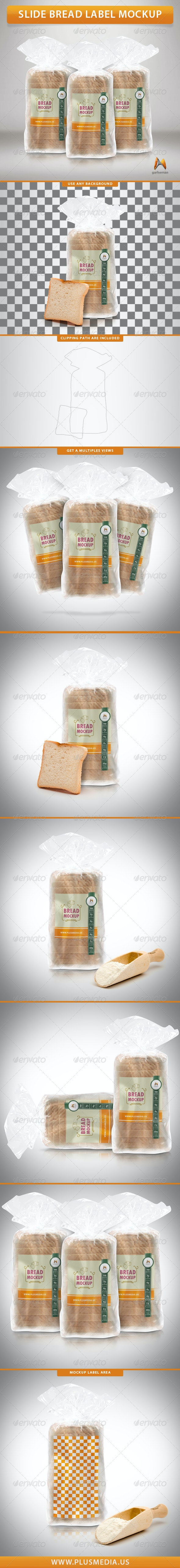 Slide Bread Label Mockup - Food and Drink Packaging