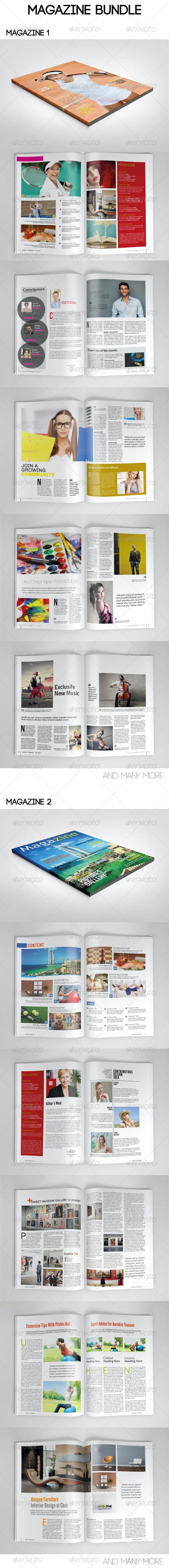 Magazine Bundle Vol. 02 - Magazines Print Templates