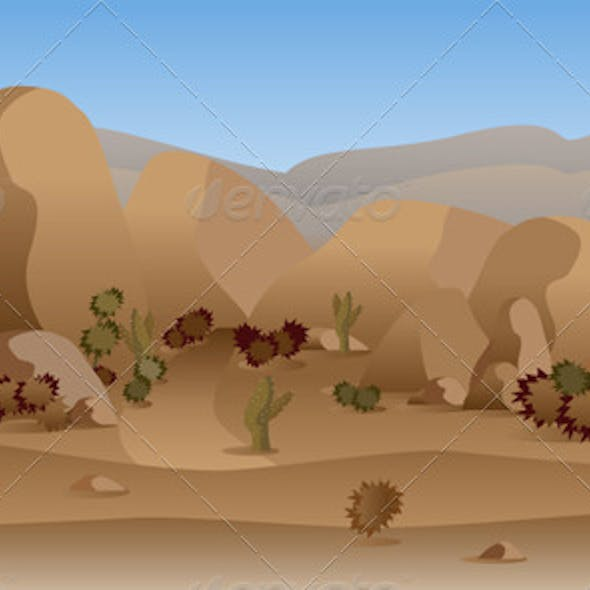 Rocky Mountain Desert Background