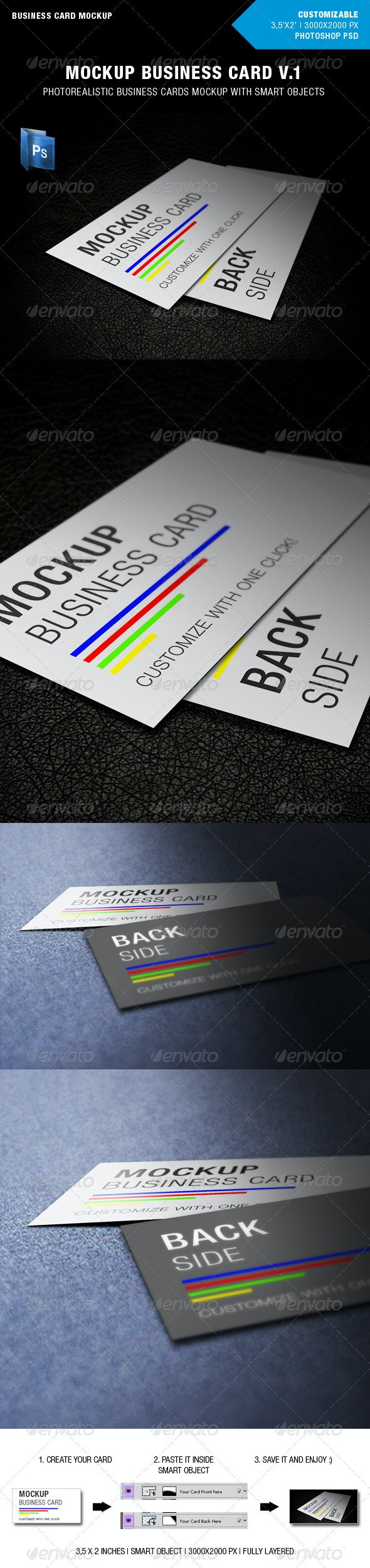 Mockup Business Card v1 - Business Cards Print