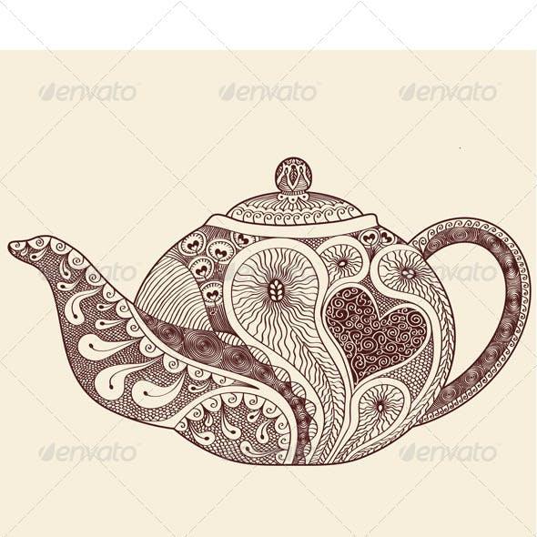 Patterned Teapot