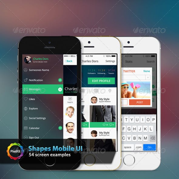 Shapes Mobile UI