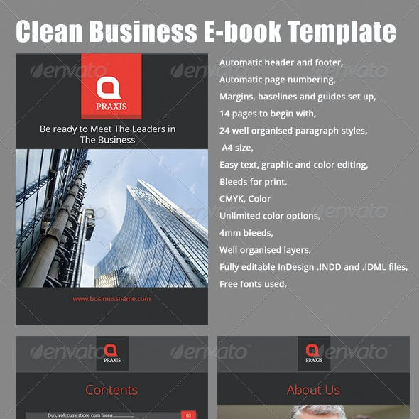 Clean - Business E-book Template