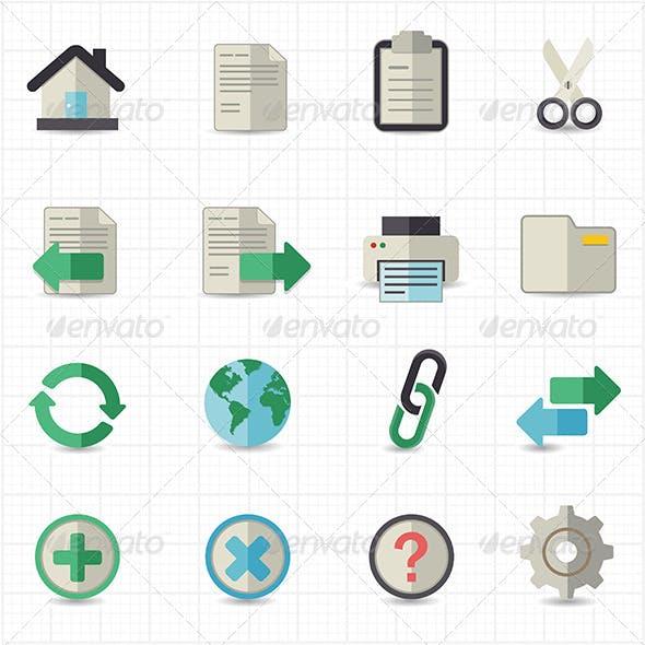 Toolbar Website Icons