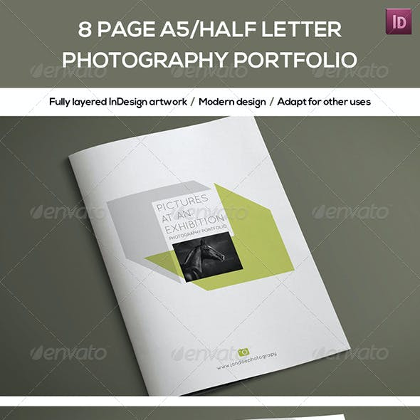 8 Page A5/Half Letter Photography Portfolio