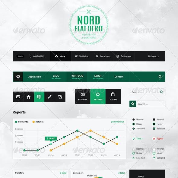 Nord Flat UI Kit