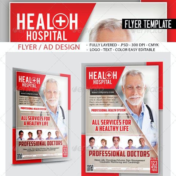 Health Hospital Flyer Templates