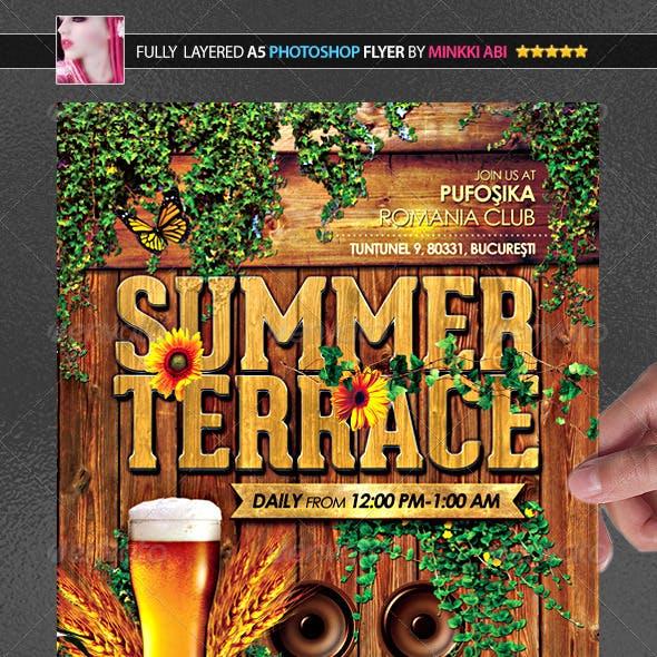 Summer Terrace Poster/Flyer