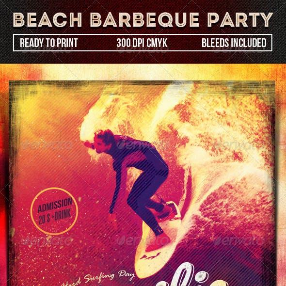 Beach Barbeque Party Flyer