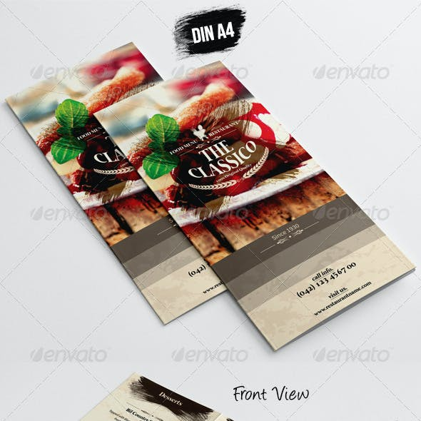 TriFold - A5 Table Tent Menu