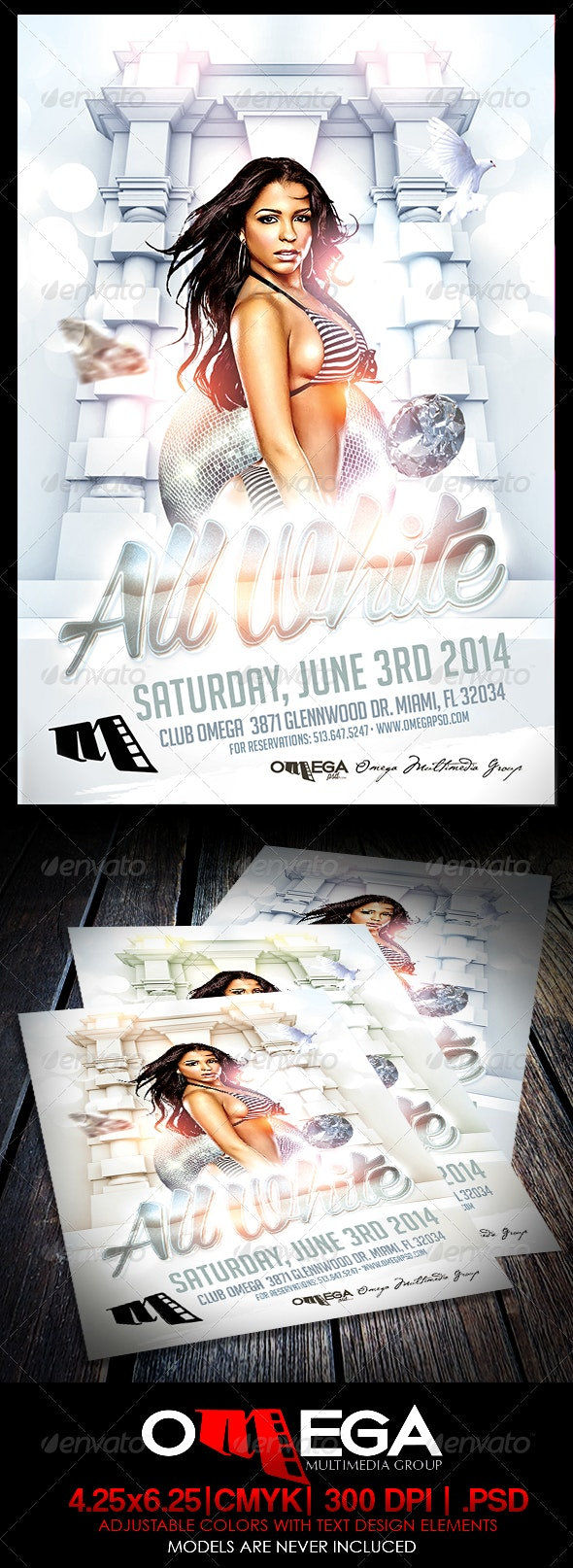 All White - Flyers Print Templates