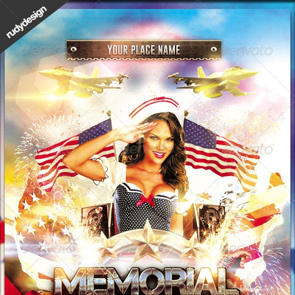Memorial Day Independence Day Flyer