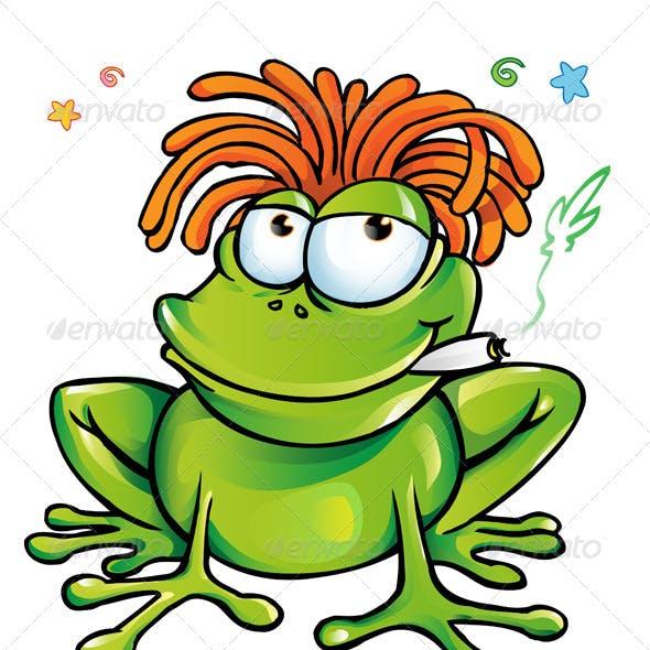 Jamaican Frog Cartoon Collection