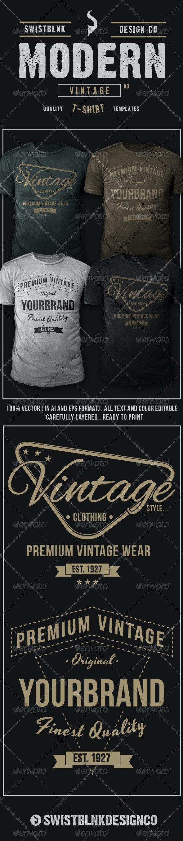 Modern Vintage T-Shirt 03 - Designs T-Shirts