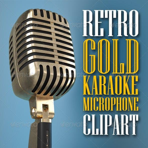 Karaoke Retro Microphone clipart