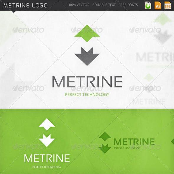 Metrine Letter M Logo Template