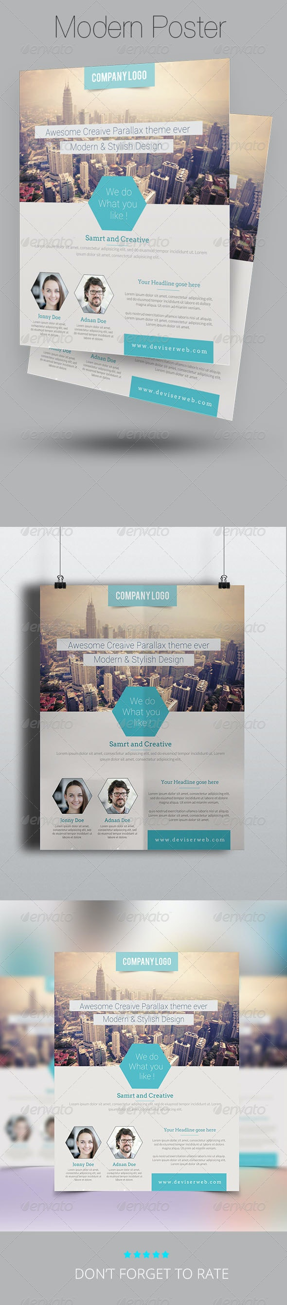Modern Business Flyer/Poster Template - Corporate Flyers