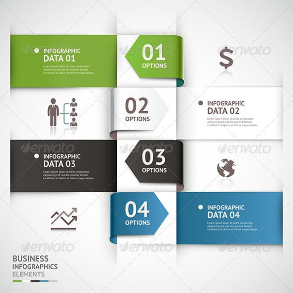 Abstract Business Infographic Arrow Template.