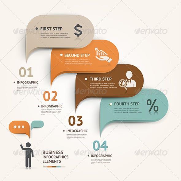 Modern Speech Bubble Infographic Template.